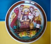"""тарелка """"Парочка""""(d-24 см)"""