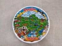 Тарелка карта Украины